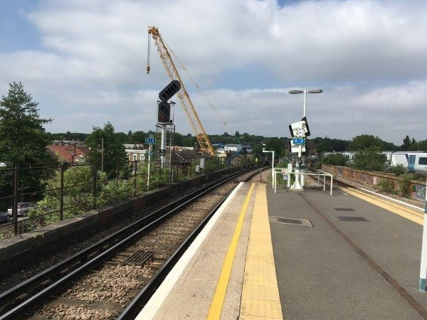 Peckham Rye railway platform