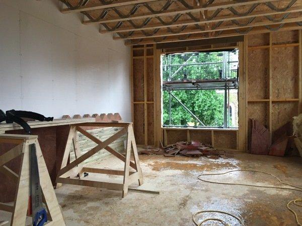 Blenheim Grove shell construction