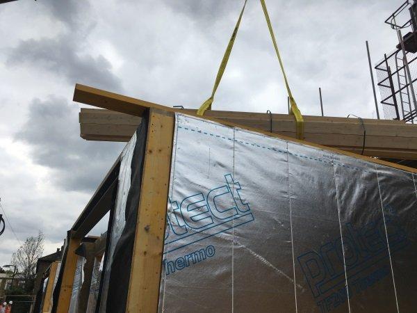 Blenheim Grove lifting timber frames