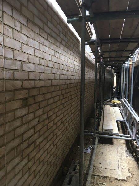 Blenheim Grove brick walls