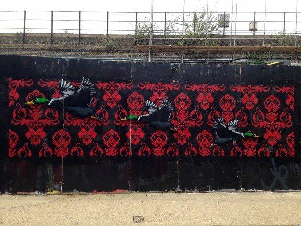 Blenheim Grove Agent Provocateur graffiti art
