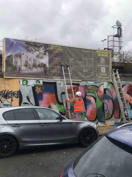 Blenheim Grove hoarding