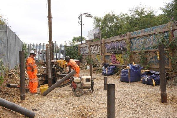 Blenheim Grove piling