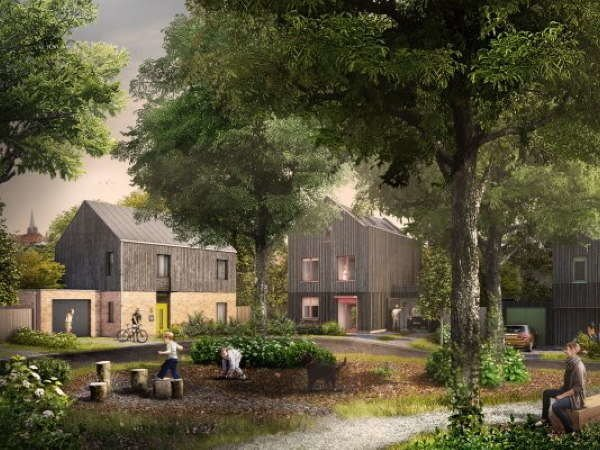 Pound Lane garden view CGI