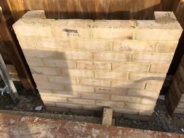 Blenheim Grove sample brick panel