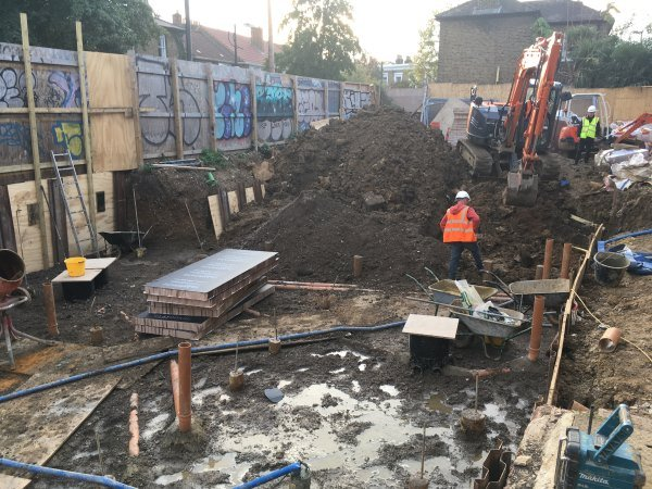 Blenheim Grove laying down clayboard