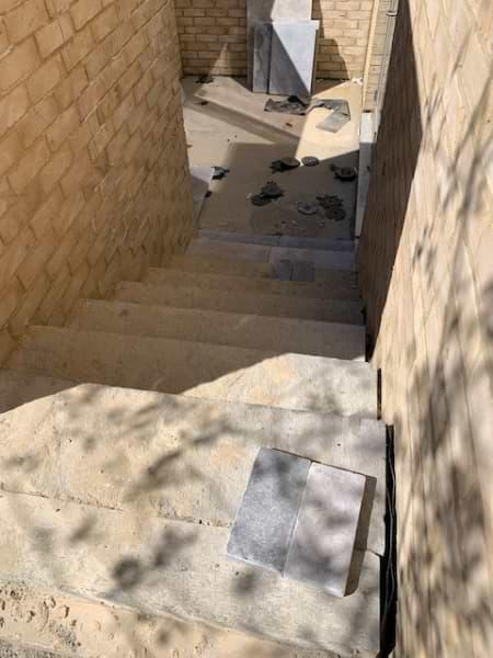 Blenheim Grove courtyard tiling
