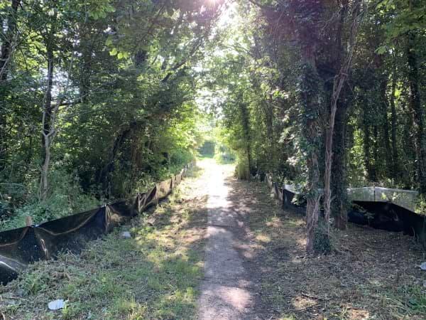 Pound Lane retained path