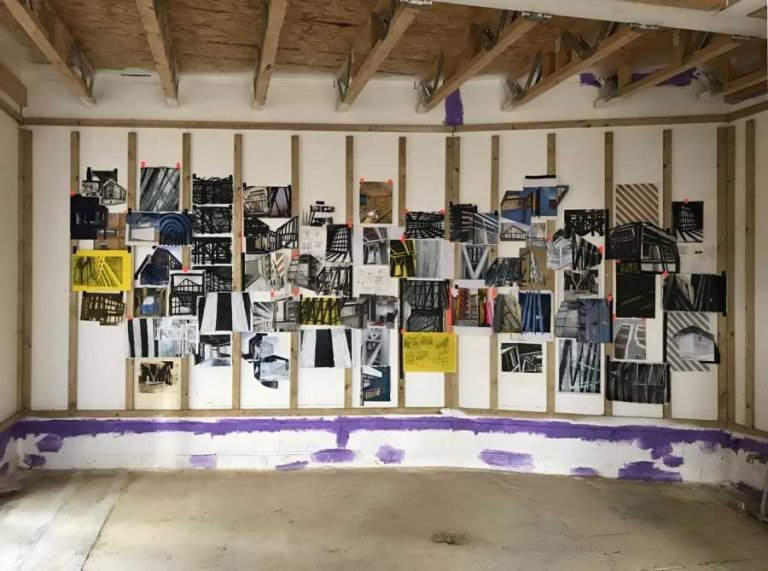 Noel Bramley - Studio wall @noelbramley