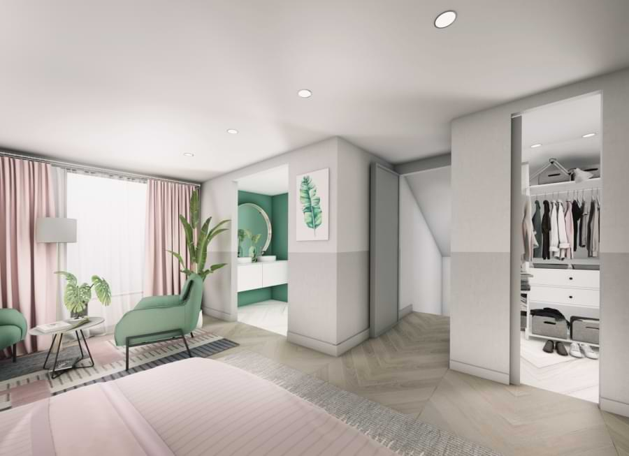 Blenheim Grove bedroom CGI