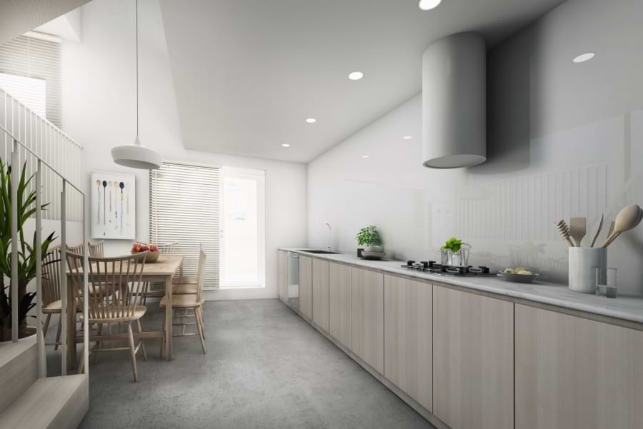 Blenheim Grove kitchen CGI
