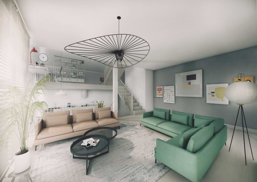 Blenheim Grove living room CGI