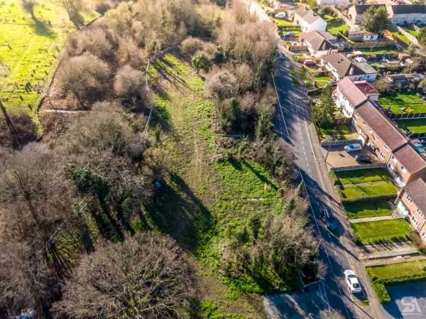 Pound Lane aerial drone view