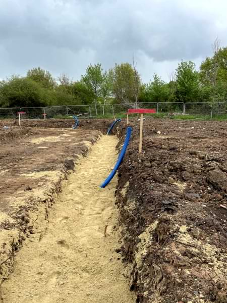 Pound Lane services trench May 2021