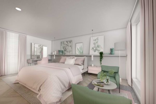 Blenheim Grove bedroom CGI