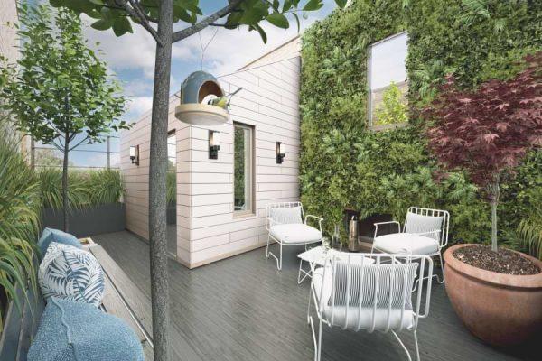 Blenheim Grove roof terrace CGI