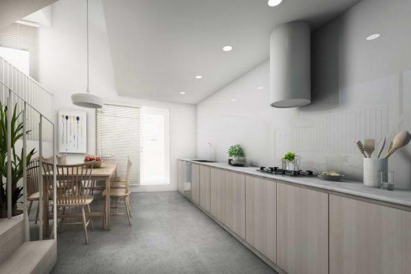 Blenheim Grove kitchen CGI